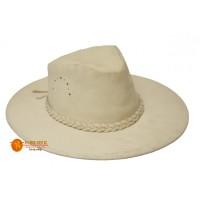 sombrero blanco en cuero