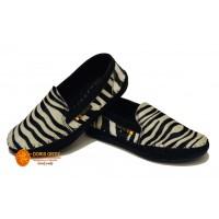 zapatos en cuero  diseño cebra