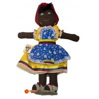 Muñeca palenquera de trapo