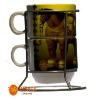 Mugs Set x2 , Molas. imágenes  de Botero o Bogotá